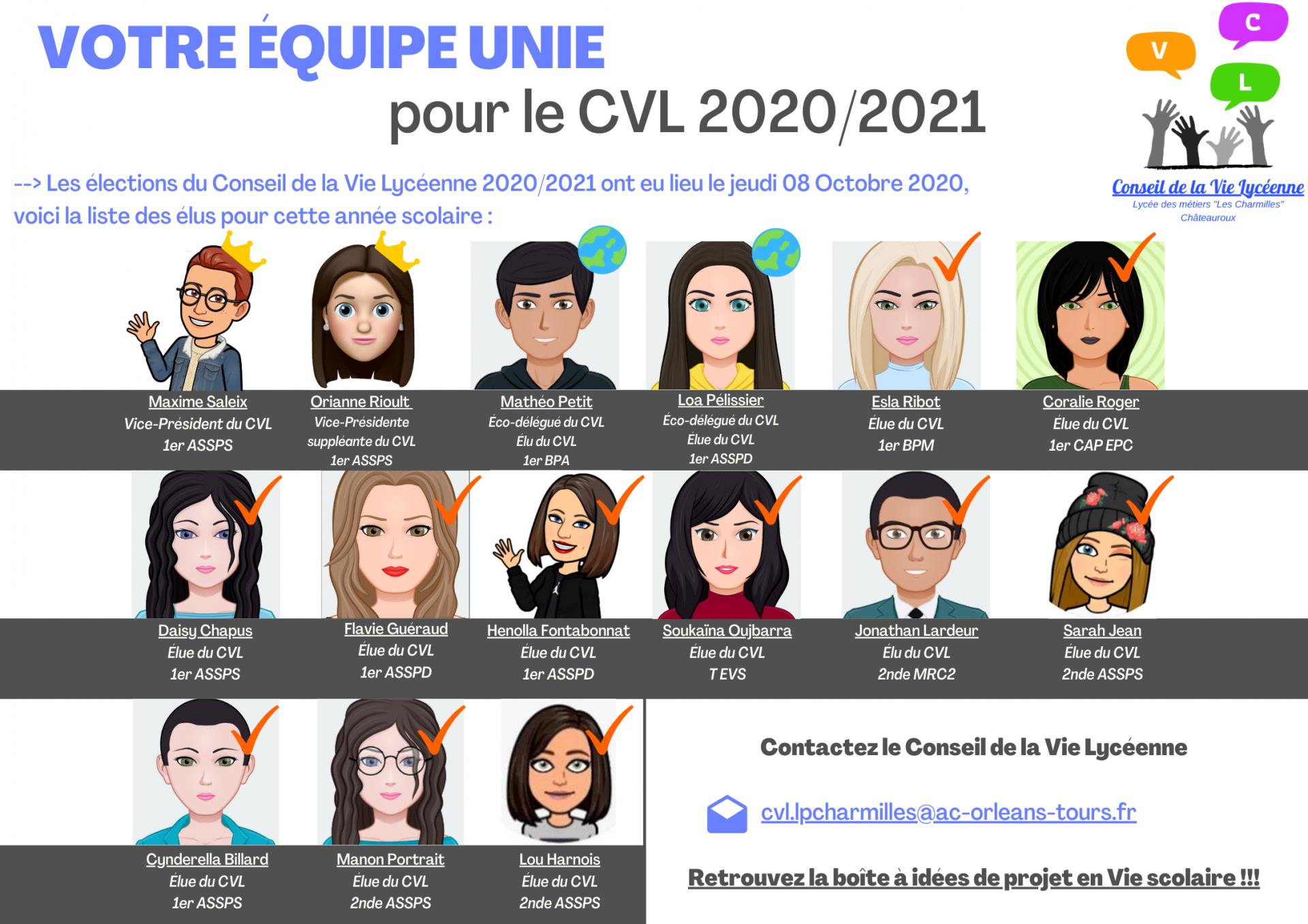 Plaquette des elus du cvl 2020 2021 1